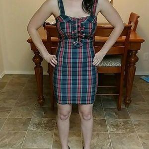 TFNC Sexy Schoolgirl Plaid Dress